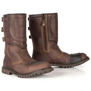 SPADA FOUNDRY BROWN WATERPROOF RETRO MOTORCYCLE BOOTS CLEARANCE CRUISER