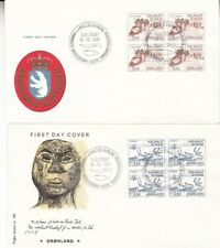 New listing 1981 Greenland lot of 2 First Day Covers; deer topical *a