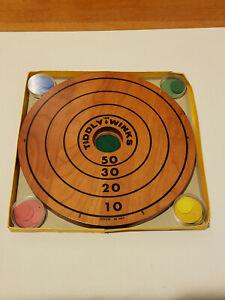 Vintage Tiddly Winks Wood Board Game #6053 by Drueke Games with Original Box
