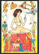 "Andrea Pazienza :  cartolina collana "" L'Erotismo"" - Libertà per Terry Broomel"