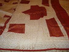 LADIES CREPE SAREE - WHITE ON WHITE, RED AND UNIQUE BRONZE WORK
