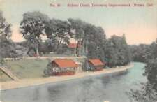 Ottawa Ontario Canada Rideau Canal Driveway Improvement Antique Postcard J73332