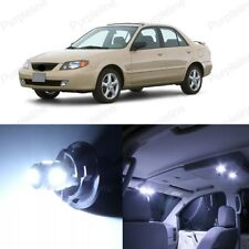 9 x White LED Interior Light Package For Mazda Protege 1999 - 2003 + PRY TOOL