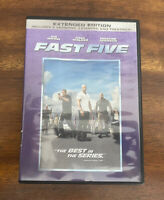 Fast Five (DVD, 2011, Rated/Unrated, Extended Edition) FREE SHIPPING