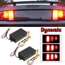 2 Universal 3-Step Sequential Chase Flash Module Boxes For Car Turn Signal Light