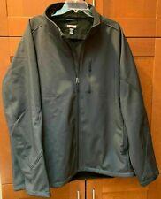 NEW-Kirkland Men Soft shell Jacket Wind and Waterproof Breathable,Sz:L-Dcharcoal