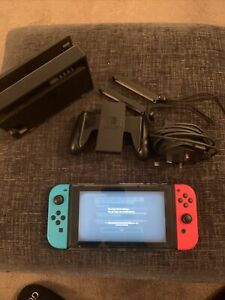 Nintendo Switch Console Neon Blue/Neon Red Joy-Cons Inc Charging Dock & Charger