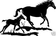Two Horse Scene Vinyl Stickers / Decals