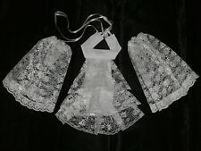 Lace Cravat + Cuffs Jabott Neck Frill - Victorian Edwardian Fancy Dress 2 Colour