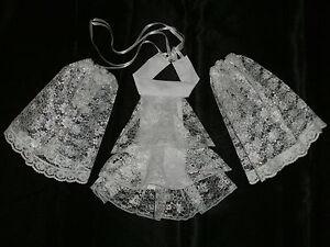 Lace Cravat + Cuffs Jabot Neck Frill - Victorian Edwardian Fancy Dress 2 Colour