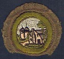 Farm Home & Its Planning Type C 1936-1946 Tan Narrow Crimped Merit Badge 201259