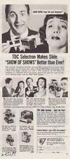 1953 Sid Caesar & Imogene Coca Photo TDC print ad