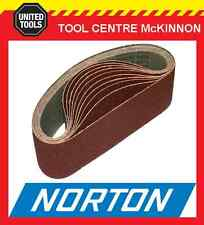 """10 x NORTON #80 GRIT 3"""" (75 x 610) SANDING BELT – SUIT MAKITA 9924DB AND OTHERS"""