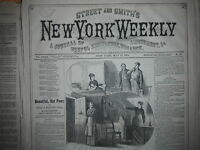 1877 Street & Smith's New York Weekly May 13 -Black Hills Life; Harry's Indians