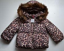 NWT GAP Girls Leopard Print Warmest Puffer Size 2T