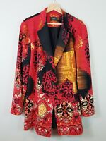 [ SARA ] Womens Patterned Midi Button Up Jacket / Coat | Size AU 20 or US 16