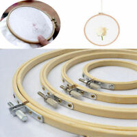 Fine Wood Cross Stitch Machine Embroidery Hoop Ring Bamboo Sewing Frame 10-40cm