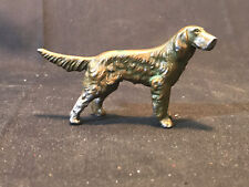 """Old Vtg Collectible Bronze Irish Setter Nice Detail 3.5"""" Long 2"""" Tall"""