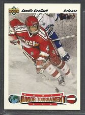 1991-92  Upper Deck Hockey - Rookie - #661 - Sandis Ozolinch - Russia
