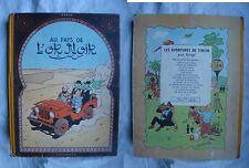 Tintin au pays de l'or noir EO 1950 en BE