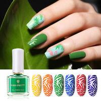 BORN PRETTY 6ml Stamping Nail Polish Summer Series Green Pink Red Nail Varnish