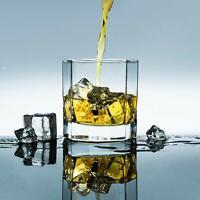 Set of 6 Heavy Base Lead-Free Whiskey Rocks Glasses Crystal Vodka Whisky Liquor