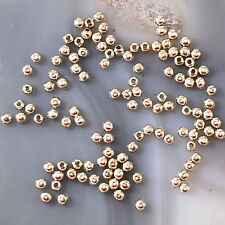 Wholesale 2x2x2mm Round Spacer Beads 130pc silver copper gold gunmetal, Silver