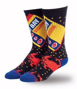 Old Bay Spicy Crab Crew Socks - NEW FAST FREE SHIP