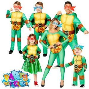 Adult Kids Teenage Mutant Ninja Turtles Costume Book Week Day Fancy Dress Outfit