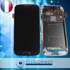 Ecran vitre complet sur chassis pour Samsung Galaxy S4 i9505 Noir bleu/gris