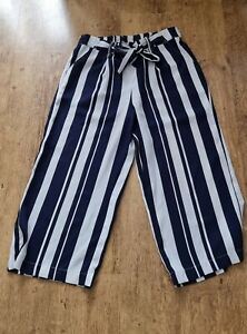 New Look Womens Cropped Trousers Size 12
