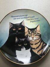 Danbury Mint Le Cattitude Plate A9377 by Maren Schaffner, Decorative Use Only