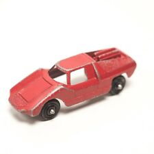Vintage Diecast Red Fiat TOOTSIE TOY Abarth Car Coupe Made in USA