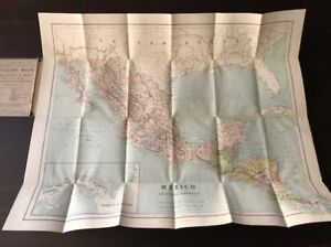 Antique map of Mexico (Shillings Maps) Circa 1900