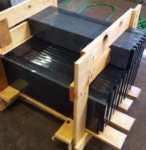 Granittreppe schwarz 15 Stufen + Stellstufen + Sockel / Nero Assoluto poliert✔