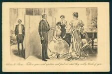Artist Signed Charles Dana Gibson Lady postcard TC4223