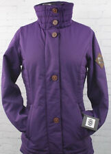 686 Women Parklan Easy Rider Snowboard Jacket (S) Violet Herringbone