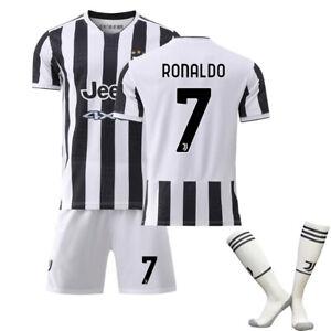 2021 Kids Kit Jersey Soccer Set Jersey CR 7# Adult Ronaldo Embroidery  Juventus