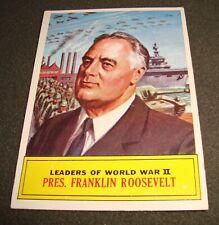 1965 Topps Battle Cards - #63 - Pres. Franklin Roosevelt