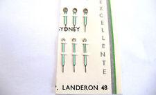 LANDERON 48  1 x PAIR ( HOUR + MINUTE ) SILVER LUMINOUS HANDS