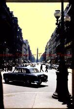 1958 FRANCE Paris Rue De La Paix street scene Vendome Column Slide s229