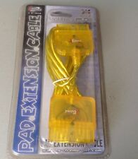 Playstation 1 Psone Ps1 Controller Pad Extension Cable Yellow Nib Rare psx