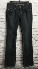 Guess Jeans Pismo Straight Leg Black Denim Jeans Stretch Women's Size 28 B03