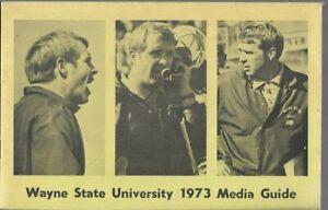 1973 WAYNE STATE (NEBRASKA) FOOTBALL media guide, EXCELLENT, ORIGINAL