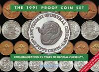 Commemorating 25 Years of Decimal Currency - 1991 Proof Coin Set