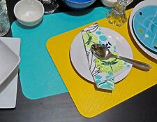 Free Postage.Rectangular Placemat 25x35cm,2pcs.Wipe Clean,Waterproof,In/Outdoors