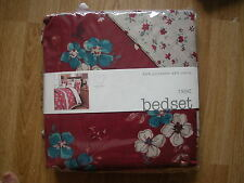 NEXT RED DITSY  FLORAL PRINT SHABBY CHIC VINTAGE SINGLE  BEDSET bed set