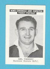 FOOTBALL - NEWS CHRONICLE - FOOTBALLER CARD - TIERNEY OF ROCHDALE HORNETS - 1955