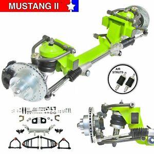 """55-57 International 26"""" Frame Mustang II IFS AeroShx 2"""" Drop 5x475 Power LH Rack"""