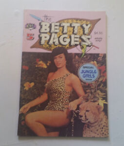THE BETTY PAGES #5 Adult Illustrated Fan Magazine 1989 NM vintage pin up sex rar